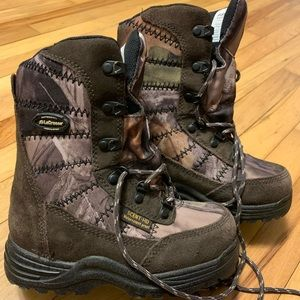LaCrosse KIDS size 2 Camo hunting boots